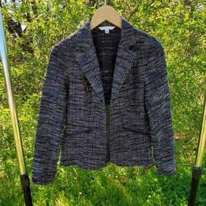 Cabi black and blue zip up jacket